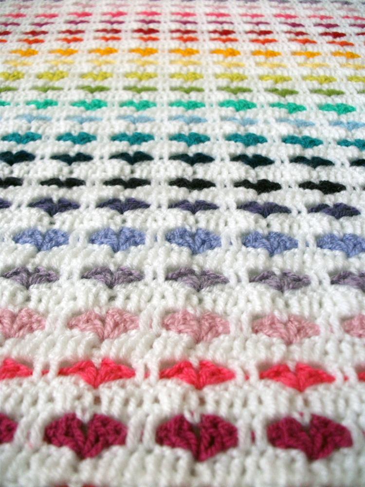 Pattern Hearts Blanket Charami English